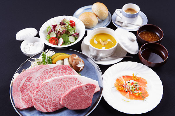 Highest quality Kobe beef course meal
