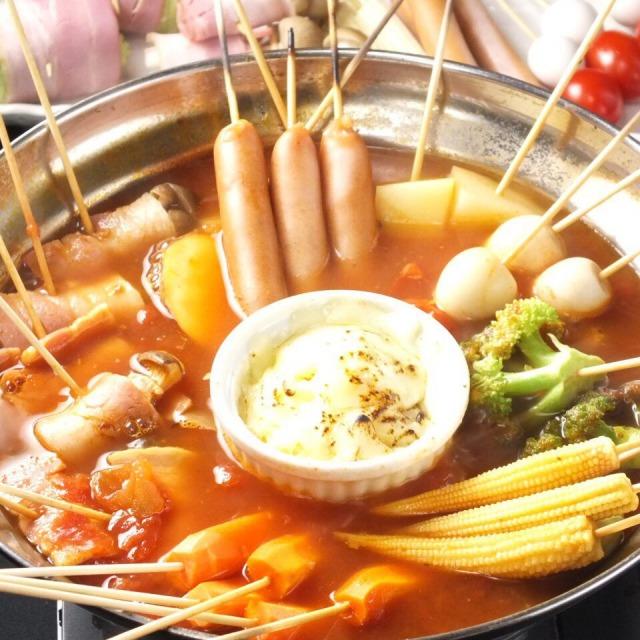 トマト串鍋一人前 1,280円