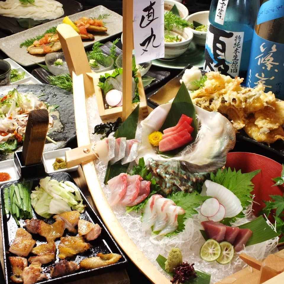 産直自慢の鮮度の高い海鮮料理
