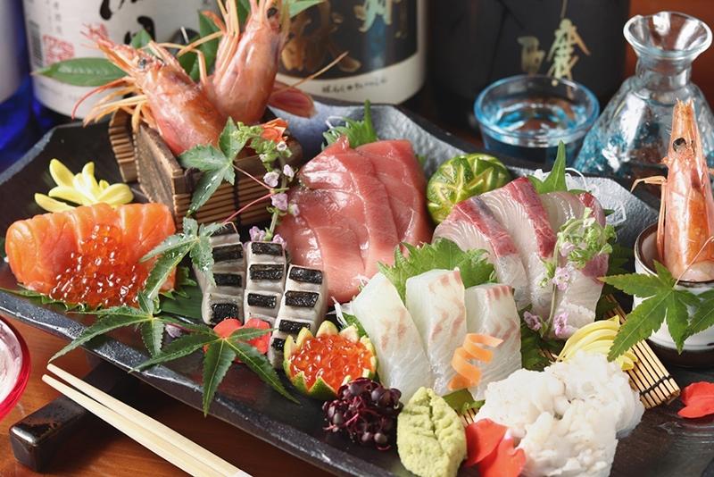 厳選された昼網鮮魚のお造り