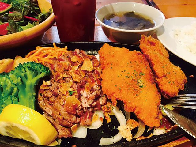 저렴한 점심은 샐러드, 수프, 음료수가 리필 가능!