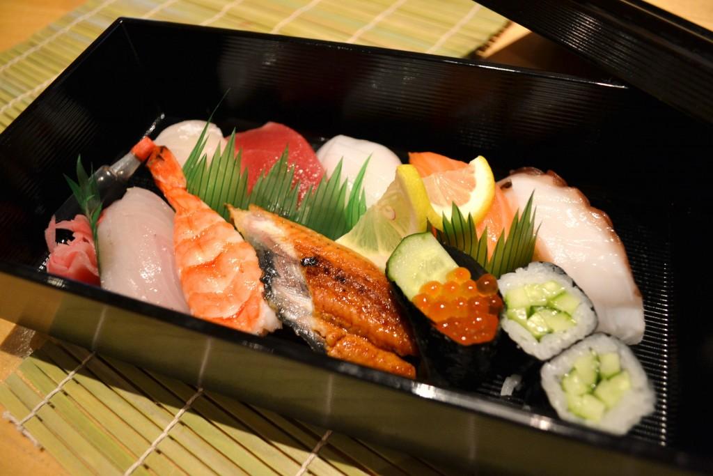 Sushi, beef / pork shabushabu 980 JPY~