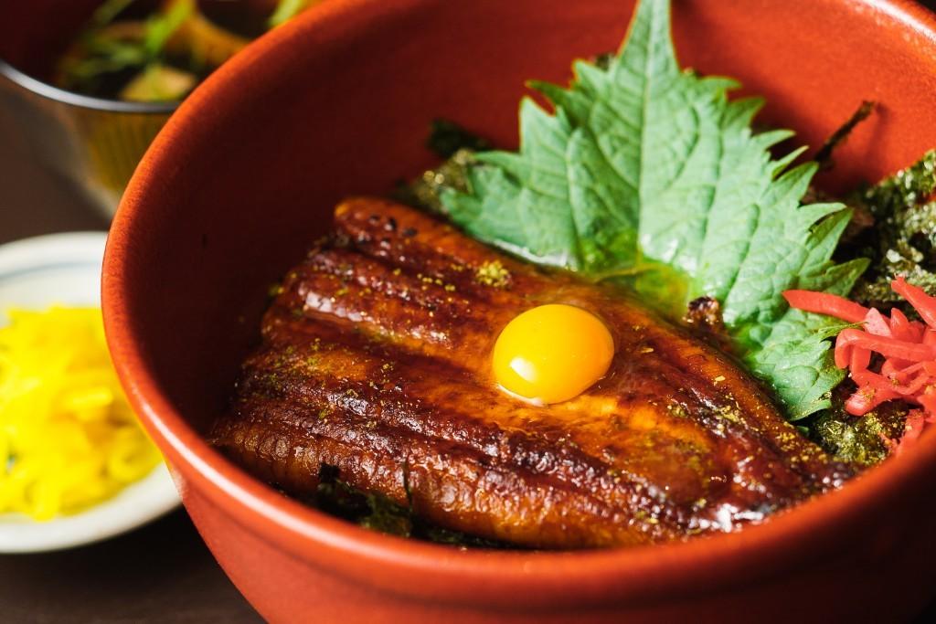 Grilled eel (Unagi) rice bowl