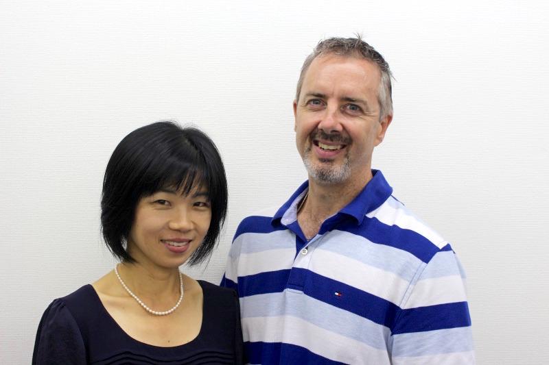 Japanese teacher Ms. Suemasa and English teacher Mr. Bennett (from Canada)