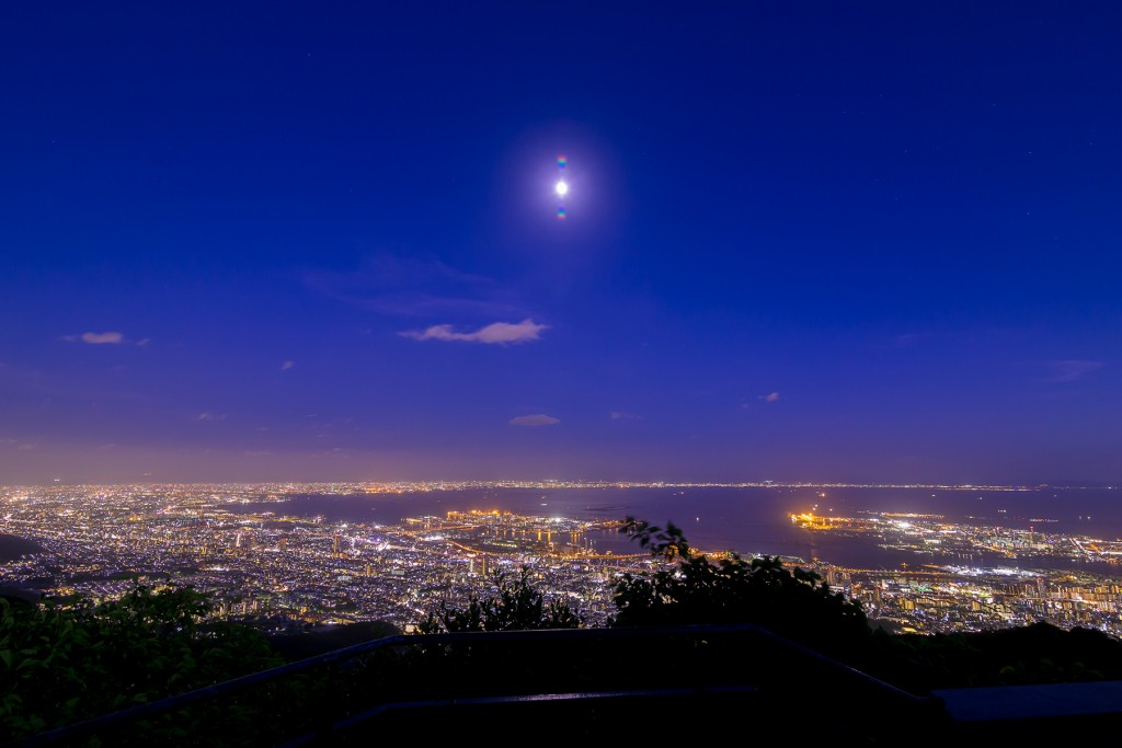 Breathtaking! A 10 million dollar night-view from Kikusedai.