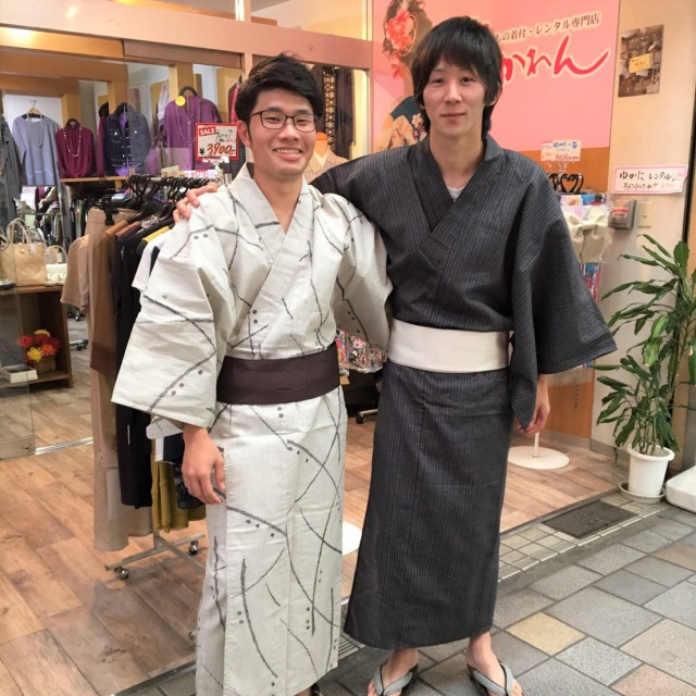 "This type of Kimono is called ""Yukata"". It's great for men as well as women in the summer season."