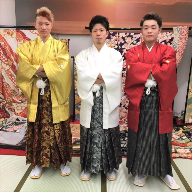 Traditional Kimono, Haori Hakama is best for the coming-of-age ceremony